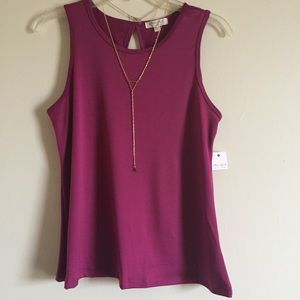 Tops - Swing Tank with Necklace